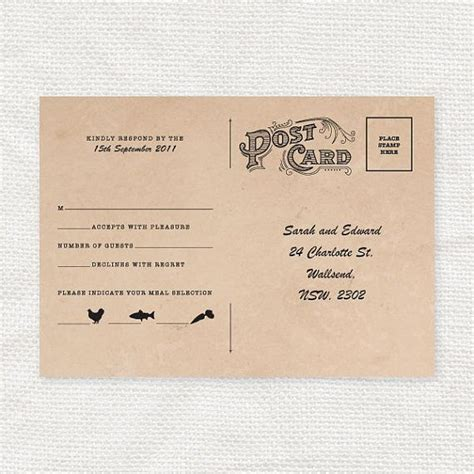 postcard wedding invitations template free vintage rsvp postcard printable file postcards