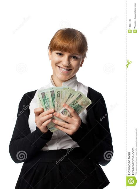 Win Lots Of Money - girl win lots of money stock photography image 14094132