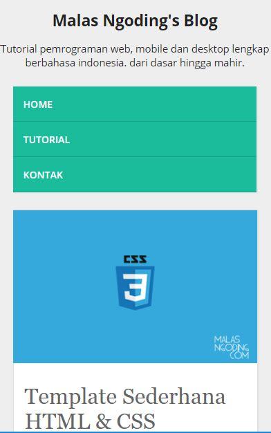 tutorial membuat web responsive membuat template web responsive dengan html dan css