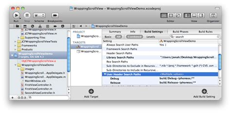 blogger user search using open source static libraries in xcode 4