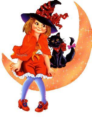 imagenes de happy halloween brujas 2 imagenes con brillo forajidos hallowen