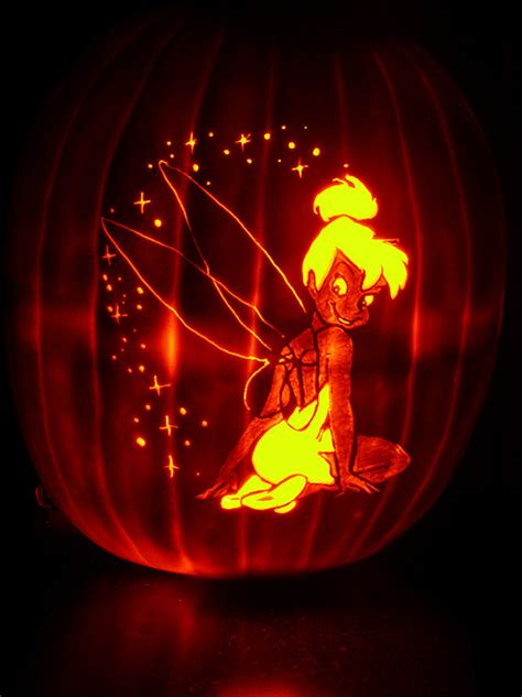 16 printable tinkerbell pumpkin templates designs