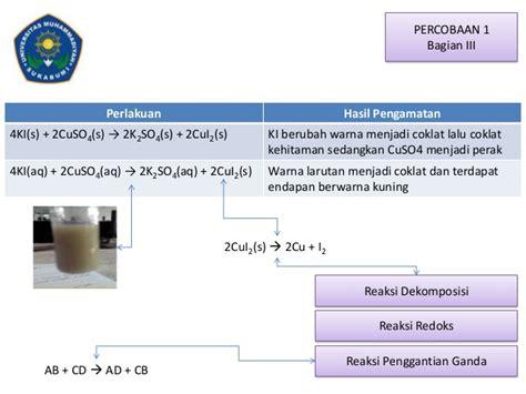 reaksi reaksi kimia  stoikiometri