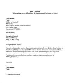 Sending A Resignation Letter To Hr Sle Resignation Letter 8 Exles In Word Pdf
