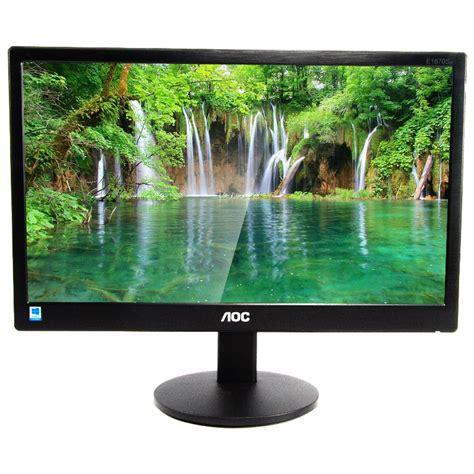Aoc Led Monitor 15 6 Inch E1670sw k galaxy komputer harga murah setiap hari