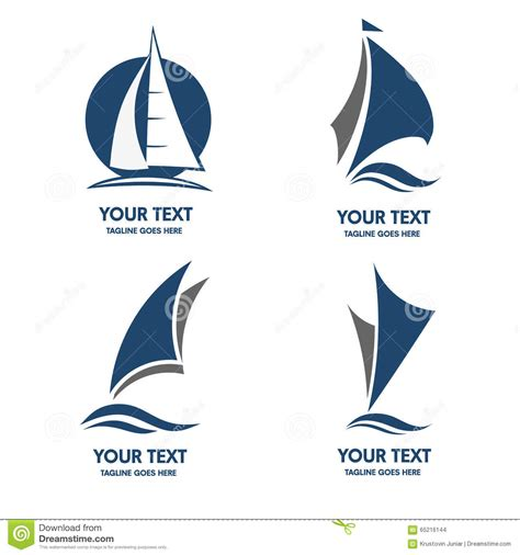 sailboat logo sailing boat logo vector stock vector illustration of