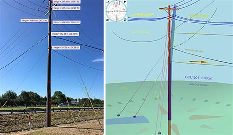 getting ready for d day power line overhead make ready field data collection 3d pole