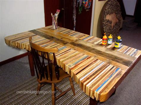 From Pallets by Table Made From Pallets Overthinking Design