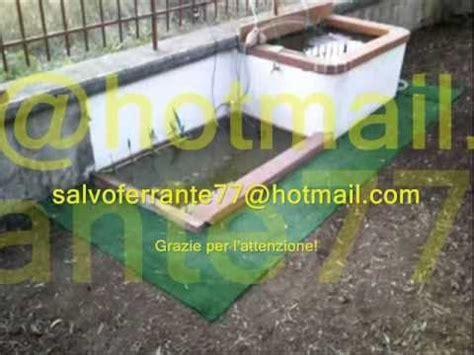 vasca pesci giardino vasca per pesci con fontanella e laghetto wmv