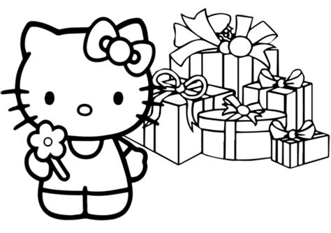 hello kitty christmas tree coloring page hello kitty happy christmas coloring page free printable