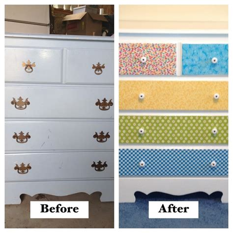 Decoupage Drawer Fronts - decoupaged fabric onto drawer fronts my projects