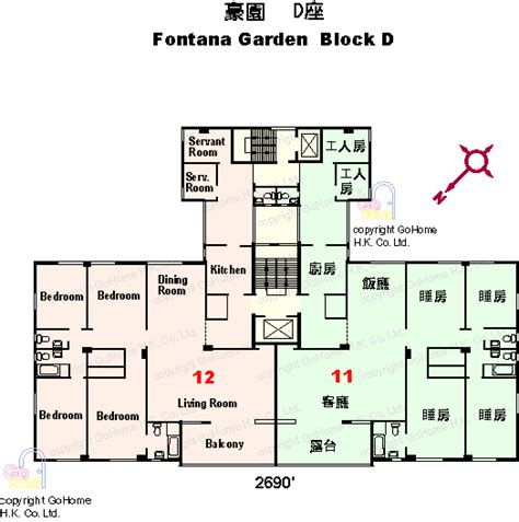 gardens floor plans floor plan of fontana gardens gohome hk