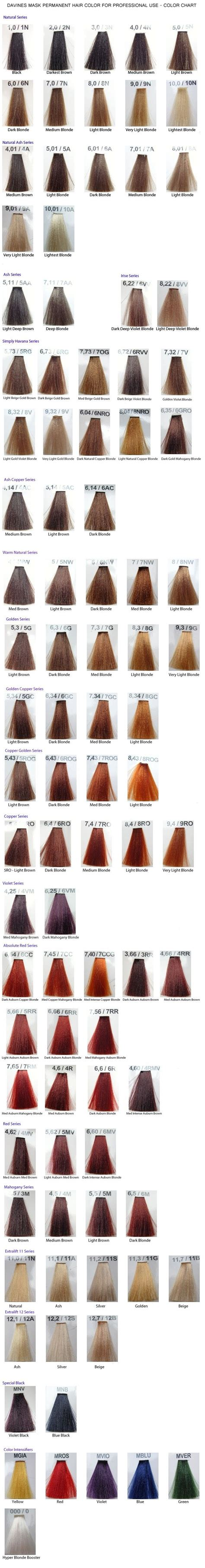 davines hair color davines mask color chart hair colors the