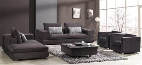 barnile 4 pieced microfiber sofa set modern living
