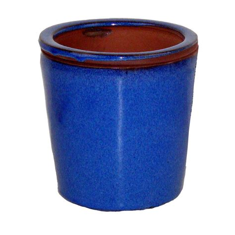 self watering pots 5 quot blue round taller self watering pot