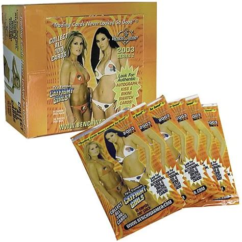 bench warmer trading cards bench warmer 2003 series 2 display bench warmer swimsuit models trading cards at
