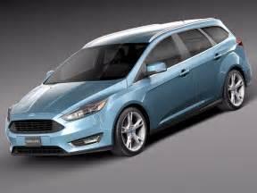 Ford Station Wagon 2015 2015 Wagon Focus 3d Max