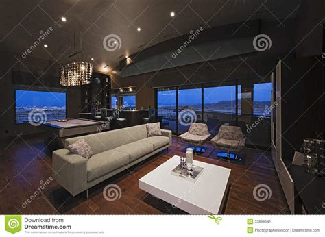 living room with bar living room bar table living room living room with bar counter and snooker table stock image