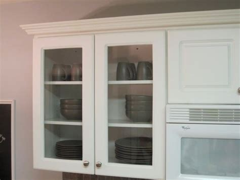 Glass Front Cabinet by Glass Front Cabinet Tutorial Kitchen