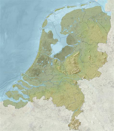 netherlands geography map netherlands satellite map