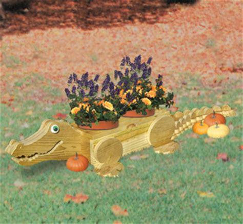 planter woodworking plans alligator flower pot wood plan