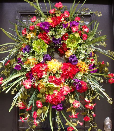 Summer Front Door Wreaths Front Door Wreaths Lush Summer Wreath Wreath By Luxewreaths