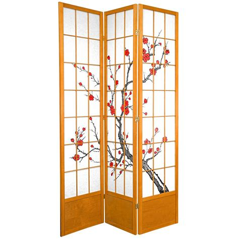 7ft room divider 7 ft honey 3 panel room divider 84cblss hon the home depot
