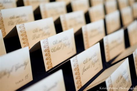 table name cards for wedding reception new brunswick new jersey indian wedding by krista patton