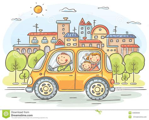 Card Cars Happy Family happy family travelling by car stock vector image 44609339