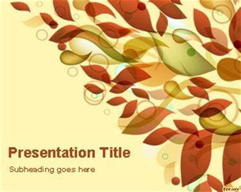 Autumn Leaves Powerpoint Template Fall Powerpoint Template