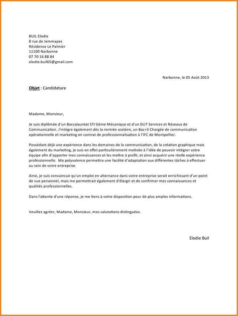 Exemple Lettre De Motivation école Communication 9 Lettre De Motivation Alternance Communication Format Lettre
