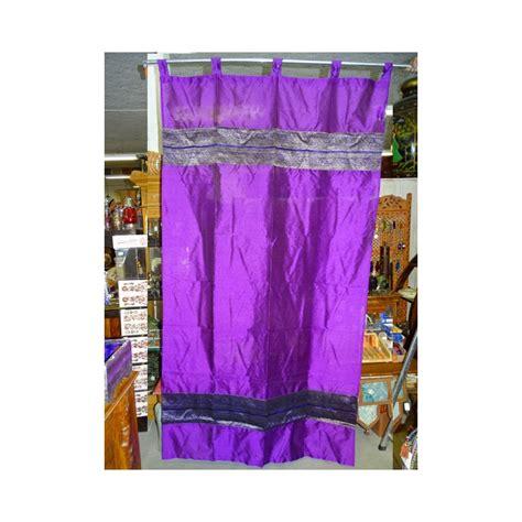 rideaux taffetas brocard violet meuble indien et