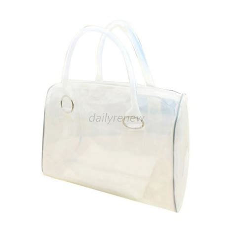 Bag 2in1 Hello jelly clear transparent shoulder bag pvc 2in1