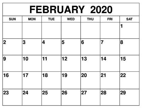 february  calendar printable auntyno  medium
