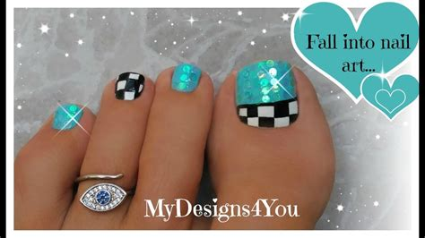 nail art checkered tutorial fun checkered toe nail art tutorial youtube