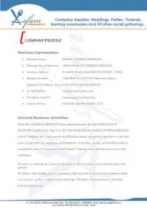 Catering Business Proposal Template Asfam Catering Services Business Proposal