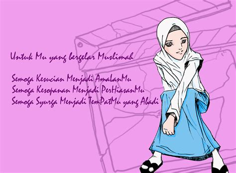 wallpaper cantik animasi gambar wallpaper kartun islam gudang wallpaper