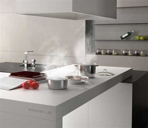 Kitchen Countertop Materials New Kitchen Countertop Material Creating Clean Contemporary Kitchen D