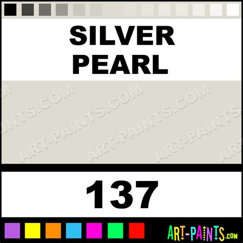 silver pearl artists metal and metallic paints 137 silver pearl paint silver pearl color