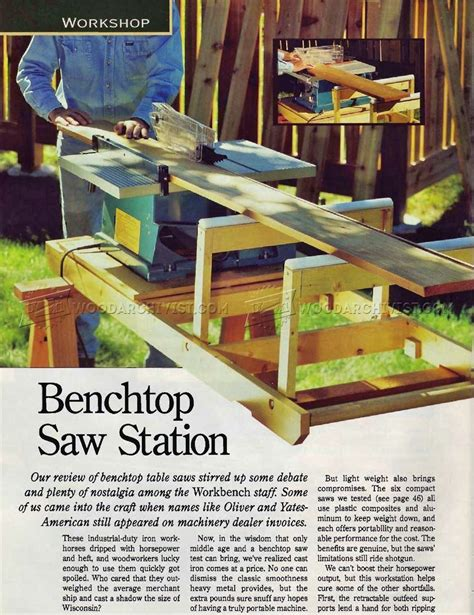 table saw station plans benchtop table saw station plans woodarchivist
