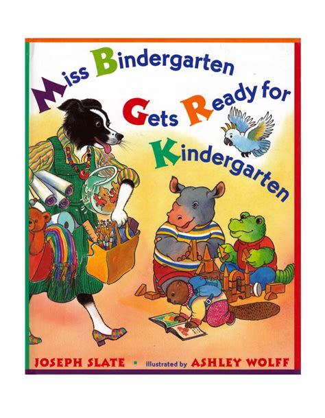 mrs miggins book of books miss bindergarten wolff