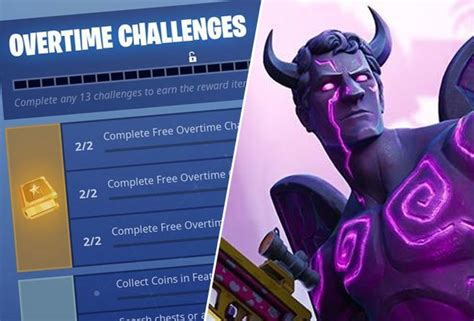 fortnite overtime challenges update epic games season