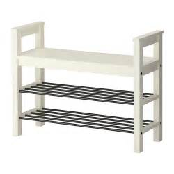hemnes bench with shoe storage white ikea