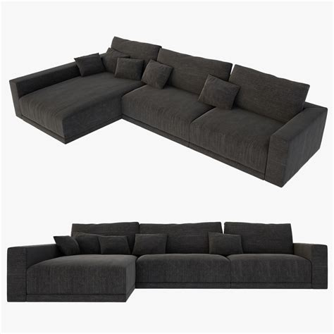 sofas models 3d realistic l sofa model