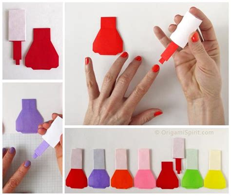 How To Make Nail Designs With Paper - origami trendy nail step by step