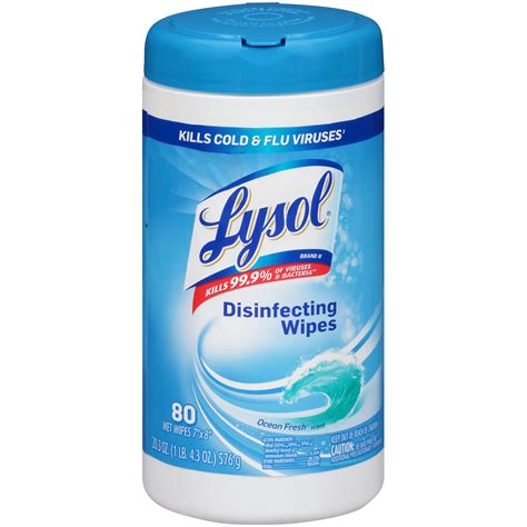 lysol disinfecting wipes spring waterfall 80 wet wipes