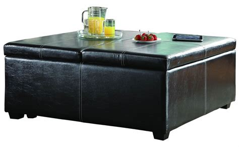 Lift Top Storage Ottoman Synergy Lift Top Storage Cocktail Ottoman On Casters From Homelegance 4727pu Coleman Furniture