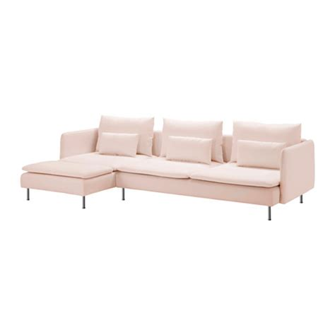 light pink sofa s 214 derhamn sofa and chaise samsta light pink ikea