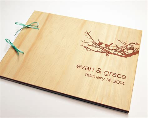 Wedding Guest Book Cover Diy by Diy Engraved Guest Book Wedding Guestbook Bridal Shower