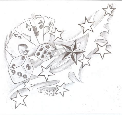 card and dice tattoo designs tattooflash tribal cards dices by 2face on deviantart